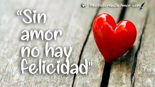 Sin amor no hay felicidad frases de amor